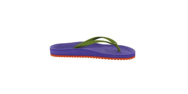 Dámske fialovo-zelené žabky Flip Flop