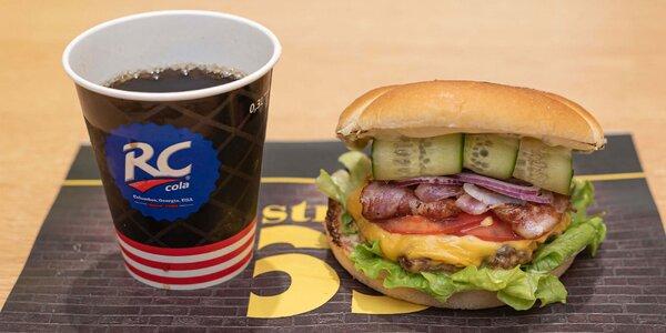 Burger, palacinka alebo vafľa + bezodný nápoj
