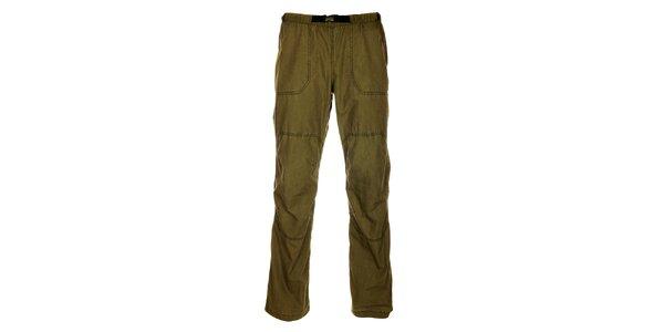 Pánske olivovo zelené outdoorové nohavice Hannah