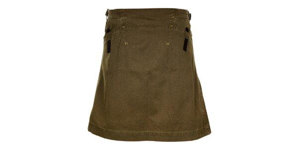 Dámska khaki sukňa s páskami Hannah