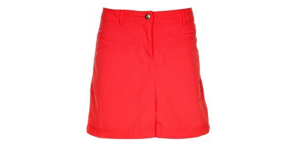 Dámska malinovo červená sukňa s výšivkou Hannah