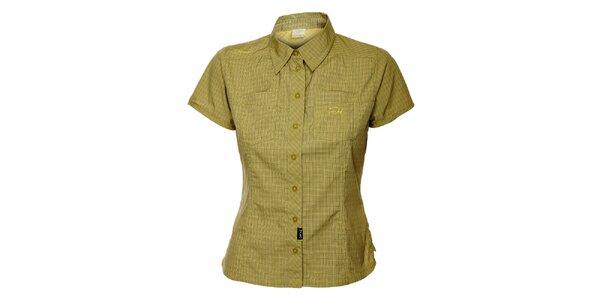 Dámska zelená outdoorová košeľa s jemným vzorom Hannah