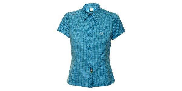 Dámska tyrkysová outdoorová košeľa s jemným vzorom Hannah