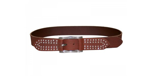 Dámsky ťaví kožený opasok Red Hot s kovovými cvokmi