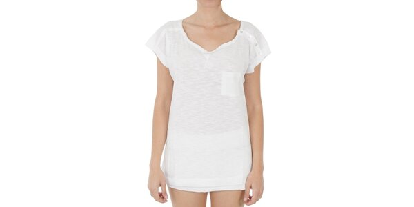 Dámske dlhé biele tričko s gombíkmi Women'Secret