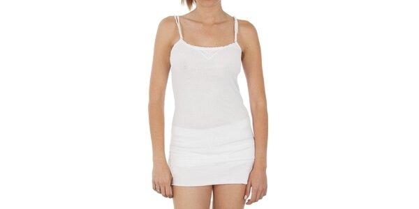 Dámske biele tielko s dvojitými ramienkami Women'Secret