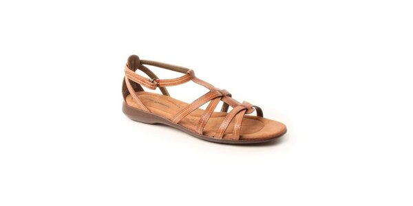 Dámske hnedé kožené sandále Hush Puppies