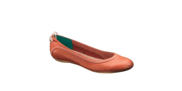 Dámske tehlovo oranžové baleríny Hush Puppies