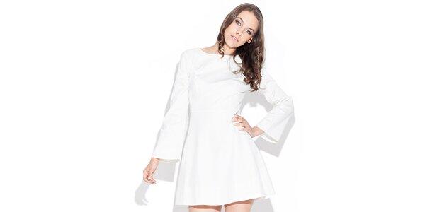 Dámske lesklé biele šaty Katrus