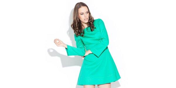Dámske lesklé zelené šaty Katrus