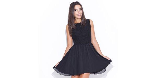 Dámske čierne šaty Katrus