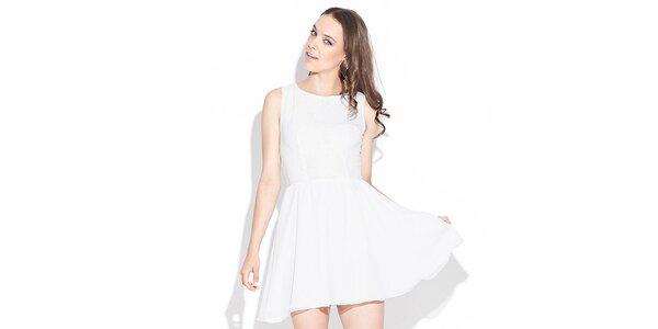 Dámske biele šaty Katrus