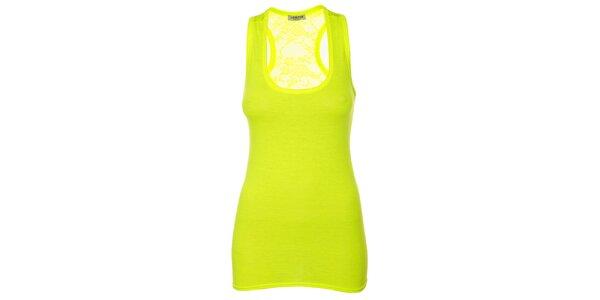 Dámsky žiarivo žltý top bez rukávov Liza Too