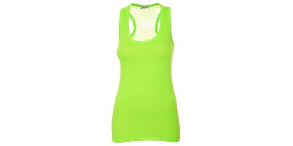 Dámsky žiarivo zelený top bez rukávov Liza Too