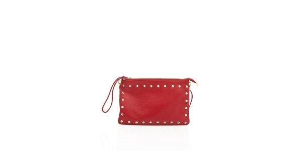 Dámska kabelka Shambala so zlatými cvočkami v červenej farbe