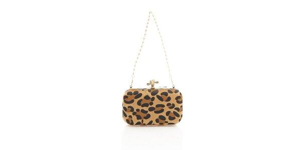 Dámska ryšavá leopardia kabelka Shambala s kovovou retiazkou