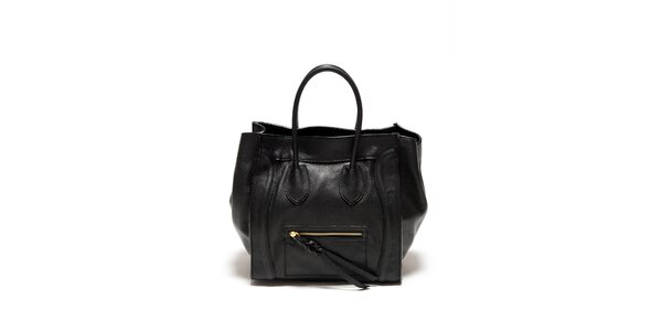 Dámska čierna kabelka s copovým detailom Renata Corsi