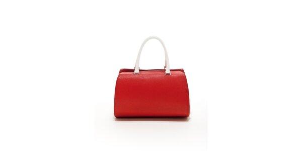 Dámska červeno-biela kožená kabelka Renata Corsi