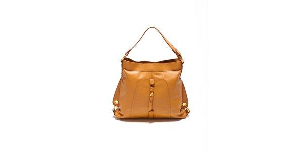 Dámska koňaková kabelka so zlatými prackami Renata Corsi