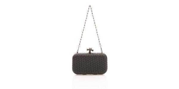 Dámska čierna kabelka Shambala s kovovou retiazkou