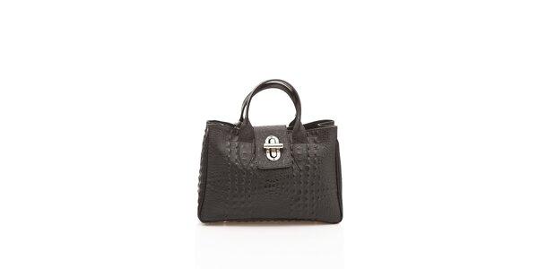Dámska čierna kabelka Shambala v efekte krokodýlej kože