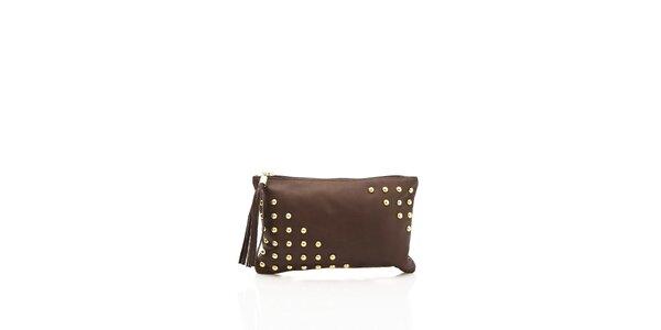 Elegantná dámska kabelka Shambala v čokoládovej farbe