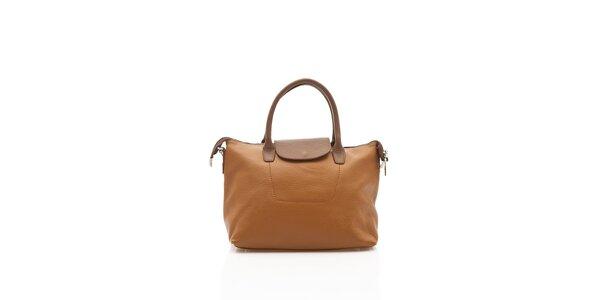 Elegantná dámská kabelka Shambala v karamelovo hnedej farbe