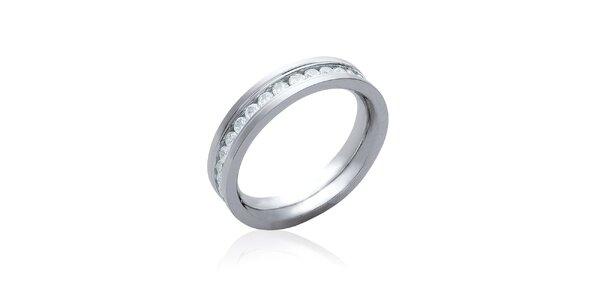 Dámsky strieborný prsteň s kubickými zirkónmi La Mimossa