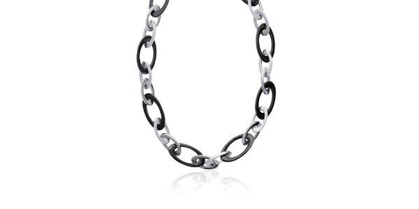 Dámsky čierno-strieborný náhrdelník La Mimossa