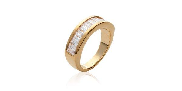 Dámsky zlatý prsteň s kamienkami La Mimossa