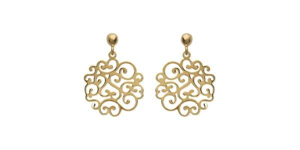 Zlaté ornamentálne náušnice La Mimossa