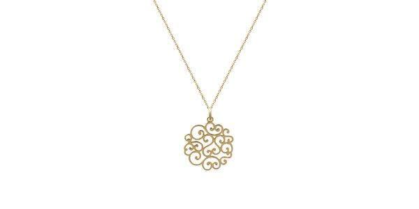 Zlatá retiazka s ornamentom La Mimossa