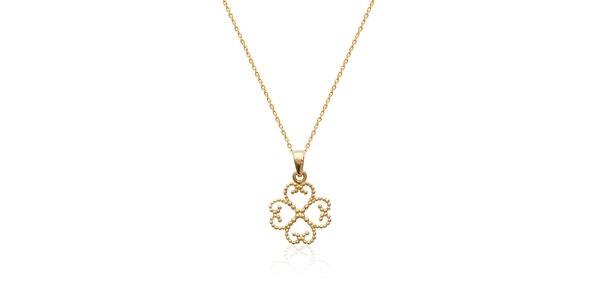 Zlatá retiazka s orientálnym ornamentom La Mimossa
