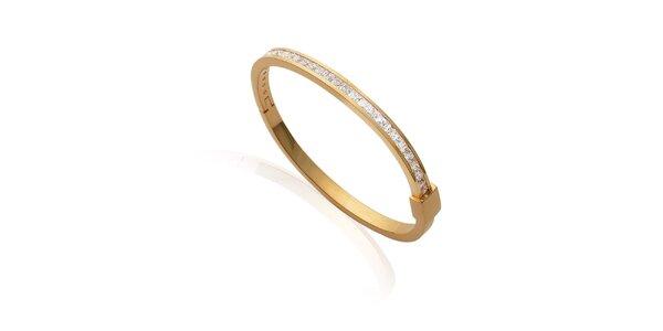 Zlatý náramok s kamienkami La Mimossa