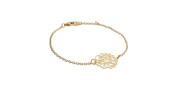 Zlatý náramok s ornamentom La Mimossa