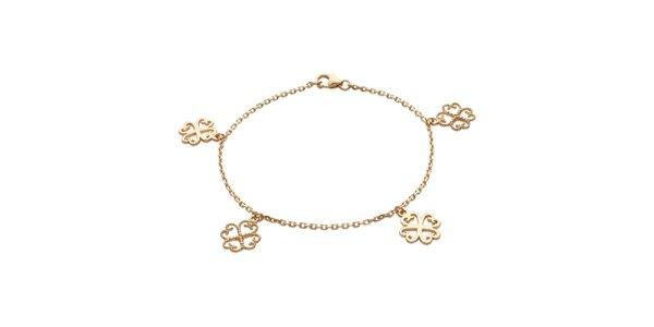 Zlatý náramok s kvetinovými komponentmi La Mimossa