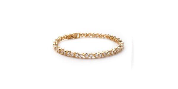 Zlatý remienok s kamienkami La Mimossa