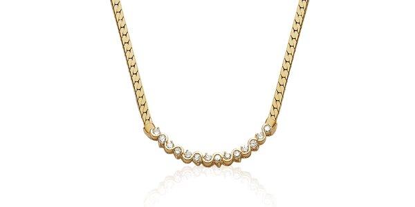 Zlatý náhrdelník s kamienkami La Mimossa