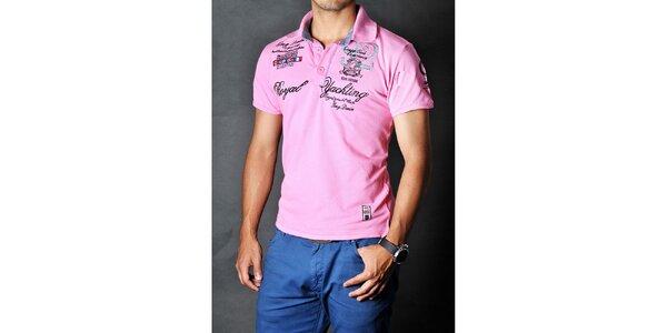 Pánske ružové polo tričko Pontto
