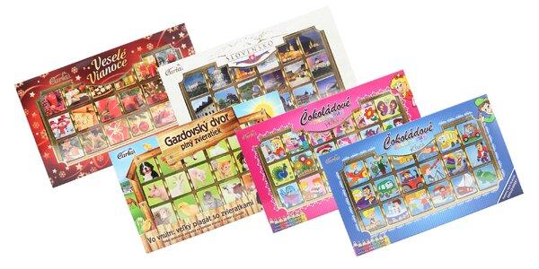 Obrázkové krabičky plné lahodnej čokolády