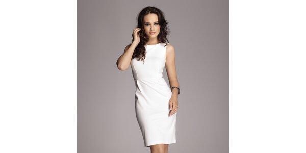 Dámske krémovo biele púzdrové šaty bez rukávov Figl 902b3574a69