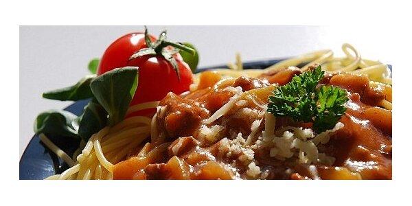 Výborné Spaghetti a veľká kofola originál len za 2,2 € v centre Bratislavy