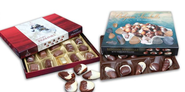 Lahodné čokoládové morské plody a pralinky