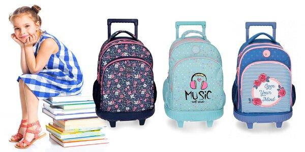 Školský batoh na kolieskach pre usilovné deti