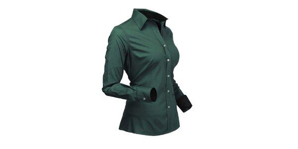 Štýlová zelená košeľa Pontto