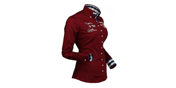 Športová vínová košeľa Pontto