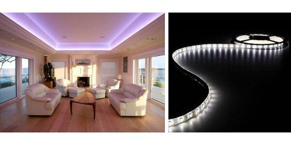 5 m 300 ks svietiaci LED pás - studená biela