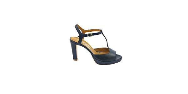 Dámske temně modré sandálky s prackou Eye