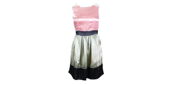 Dámske ružovo-šedé šaty bez rukávov Tantra