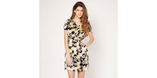 Dámske žlté šaty s límčekom Tantra